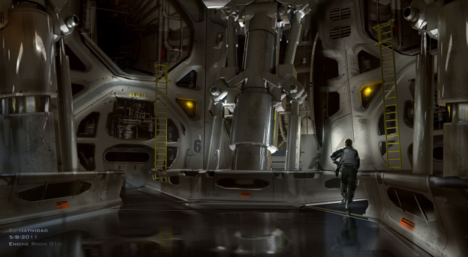 Total Recall Concept Art by Ed Natividad