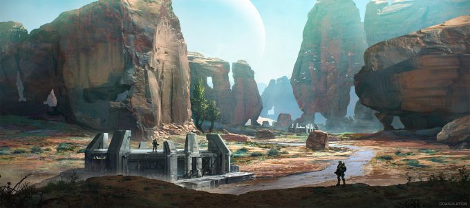 layne johnson concept art Halo The Master Chief Collection coagulation 06