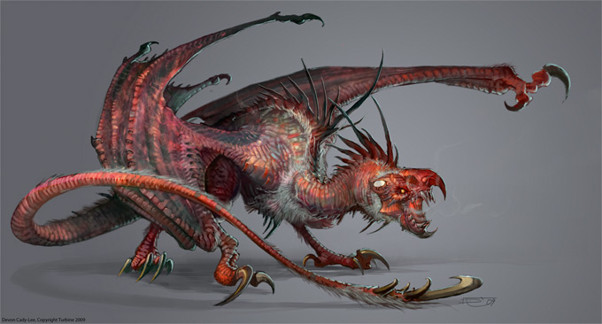 Dragon Concept Art by Devon Cady-Lee