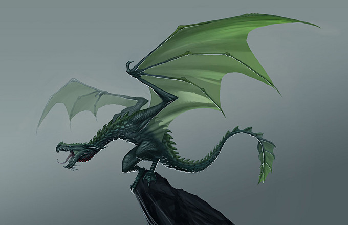 Dragon Concept Art by Jake Parker