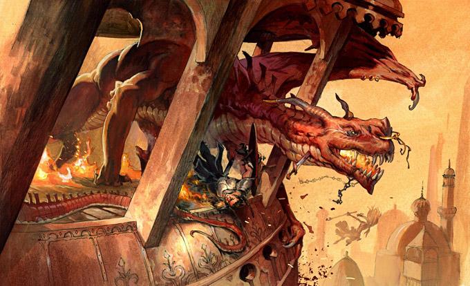 Dragon Concept Art by Jesper Ejsing