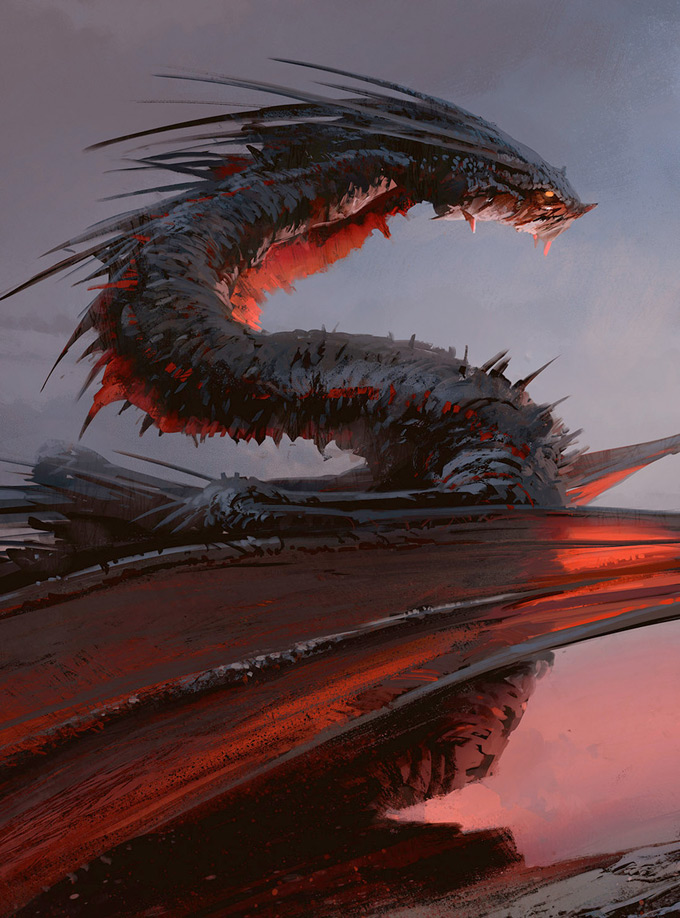 Dragon Concept Art by Maciej Kuciara