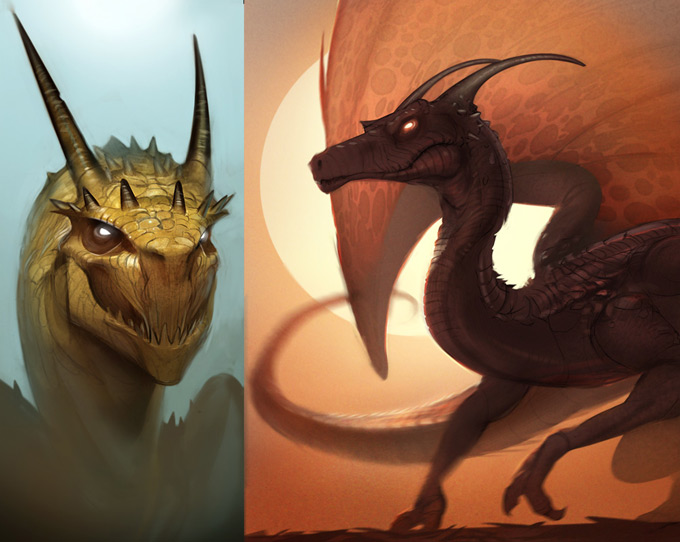Dragon Concept Art by Matt Kohr