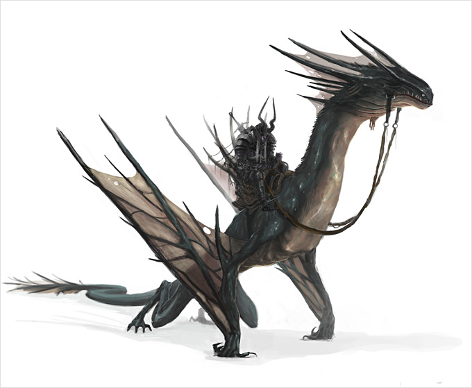 Dragon Concept Art by Roderick Wong