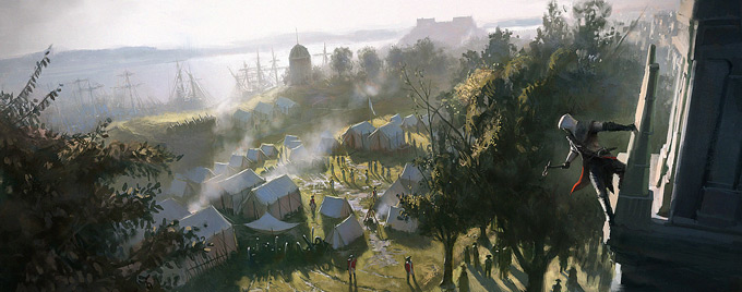 Assassin's Creed III Concept Art by Gilles Beloeil