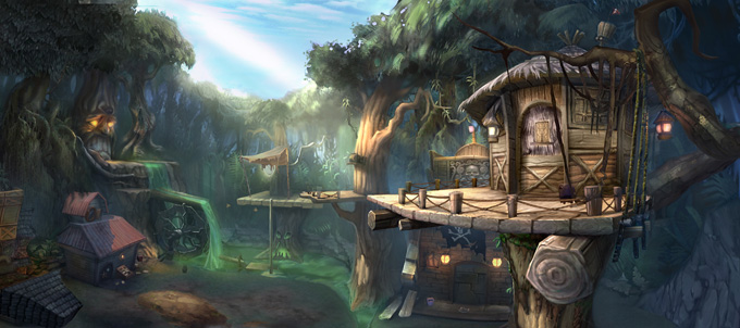 Epic Mickey 2 Concept Art by Jordan Lamarre-Wan