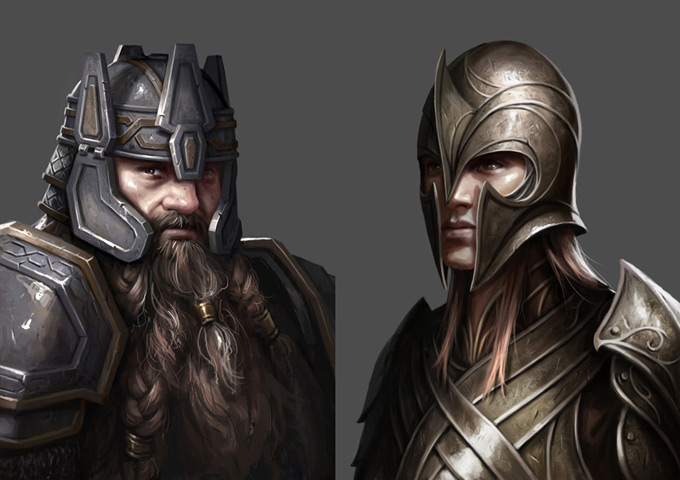 "The Hobbit: Armies of the Third Age Illustrations by Mike ""Daarken"" Lim"