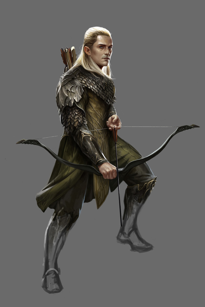 "The Hobbit: Armies of the Third Age Illustrations by Mike ""Daarken"" Lim Legolas"
