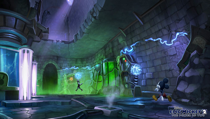 Disney Epic Mickey 2: The Power of Two Concept Art by Kevin Chin