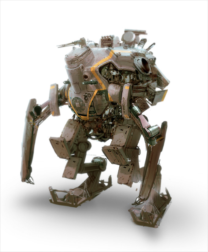 Mech Concept Art by Alex Figini