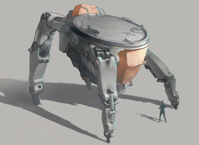 Mech Concept Art by Angela Sung