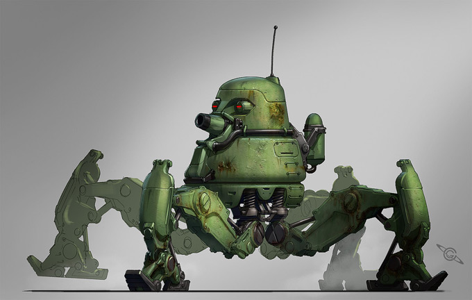 Mech Concept Art by Colin Geller