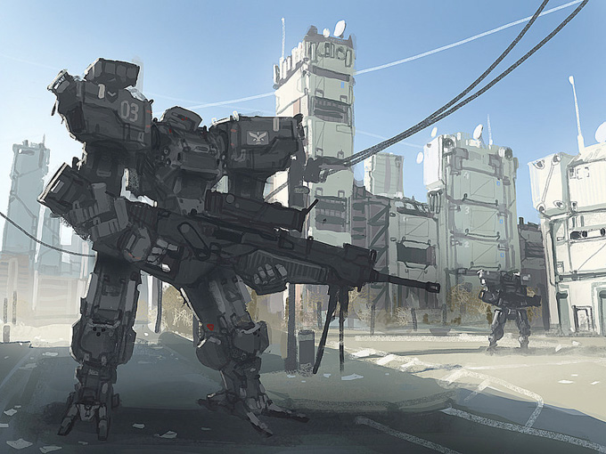 Mech Concept Art by Daniel Graffenberger