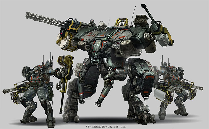 Mech Concept Art by Eliott Lilly