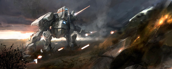 Mech Concept Art by Francesco Lorenzetti