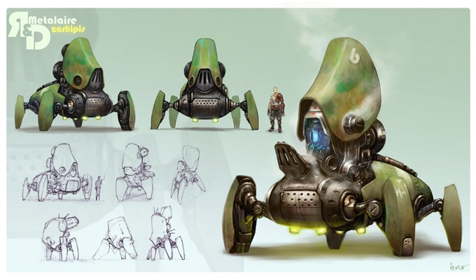 Mech Concept Art by Hao Wu