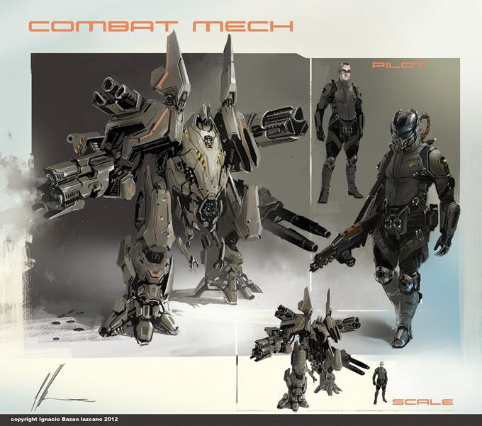 Mech Concept Art by Ignacio Bazan Lazcano