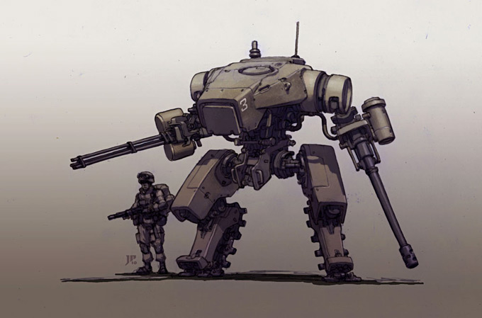 Mech Concept Art by Jake Parker