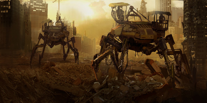Mech Concept Art by Marc Samson