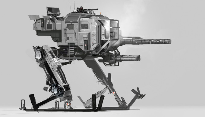 Mech Concept Art by Paul Chadeisson