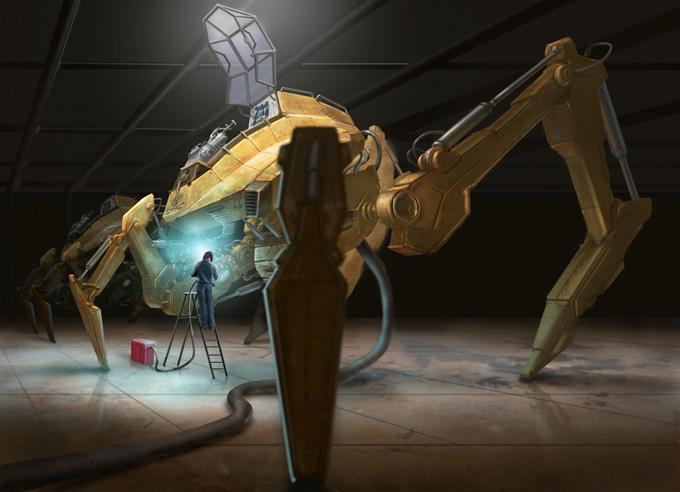 Mech Concept Art by Raj Rihal
