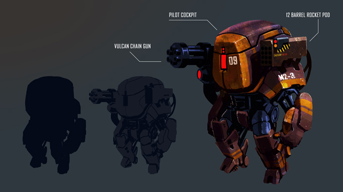 Mech Concept Art by Shaun Mooney