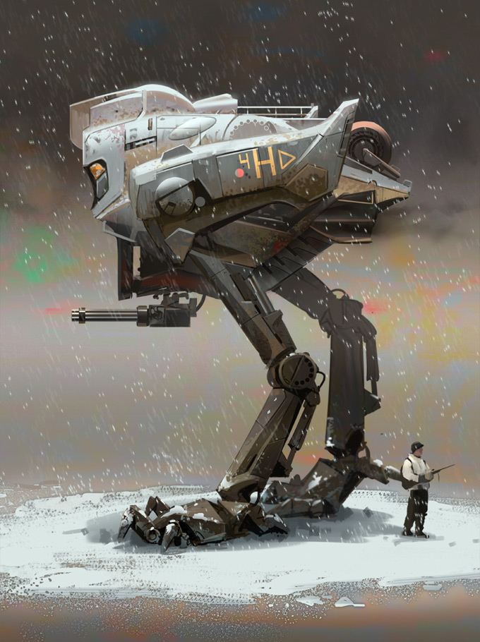 Mech Concept Art by Tyler West