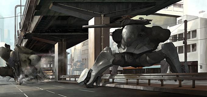 Mech Concept Art by Walter Kim