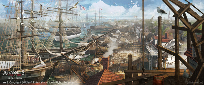 Assassin's Creed III Liberation Concept Art by Eddie Bennun