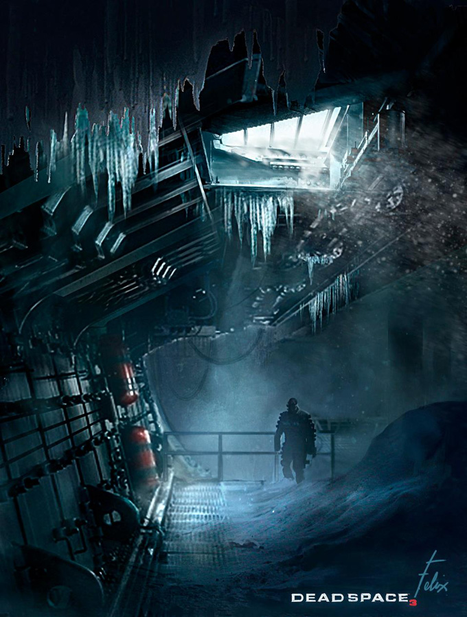 Dead Space 3 Concept Art by Jason Felix