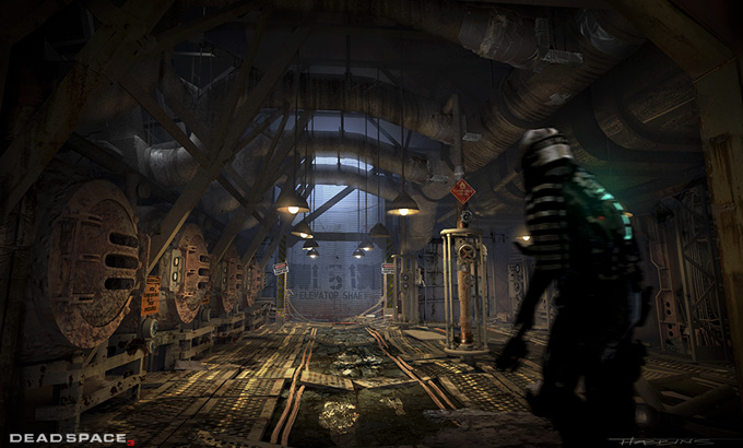 Dead Space 3 Concept Art by David Hobbins