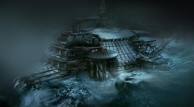 Dead Space 3 Concept Art by Jens Holdener