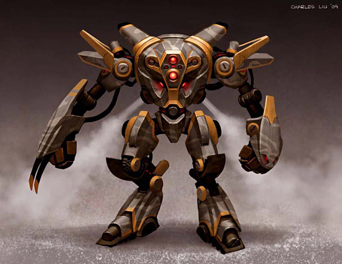 Robot Concept Art by Charles Liu