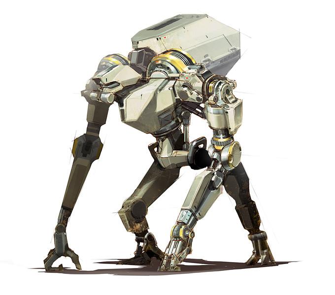 Robot Concept Art by Darren Quach