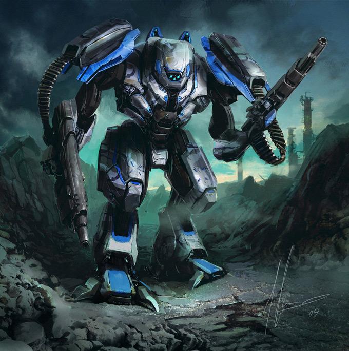 Robot Concept Art by Ignacio Bazan Lazcano