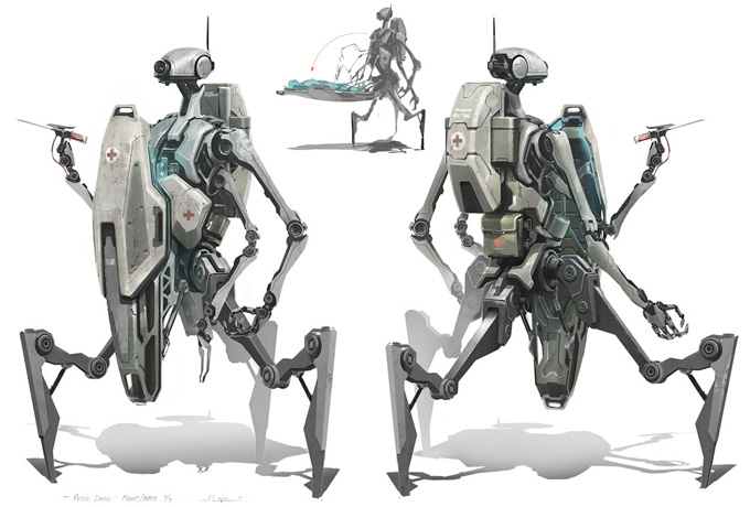 Robot Concept Art by Jeremy Love