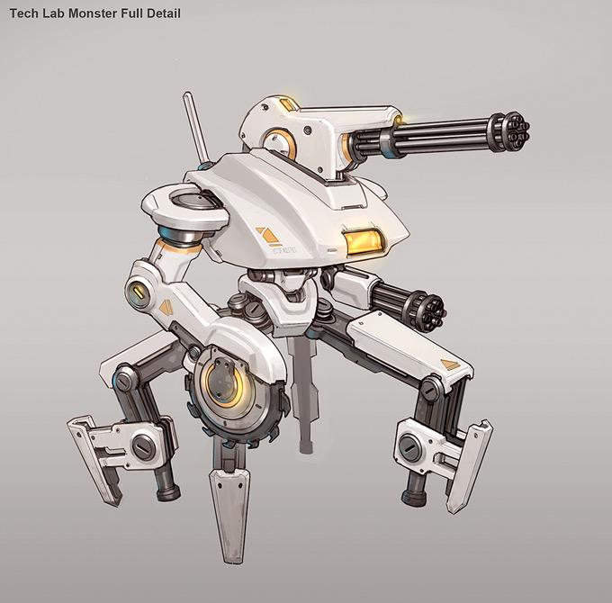 Robot Concept Art by Josh Kao