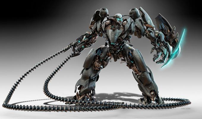 Robot Concept Art by Josh Nizzi