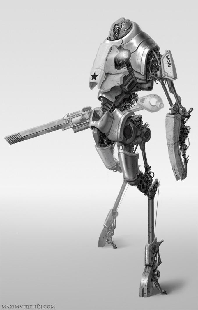 Robot Concept Art by Maxim Verehin