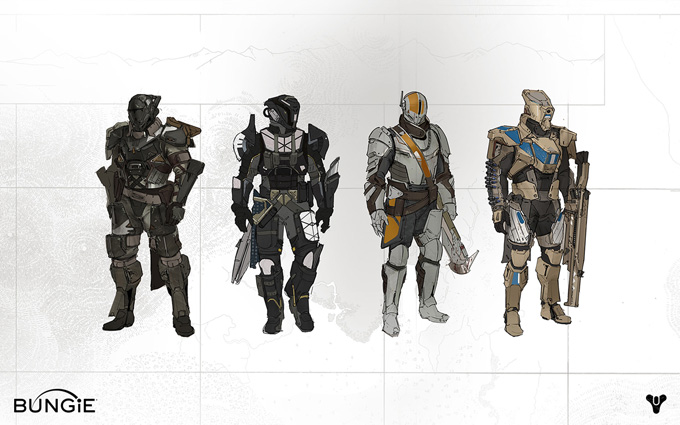 Destiny Character Development and Concept Art