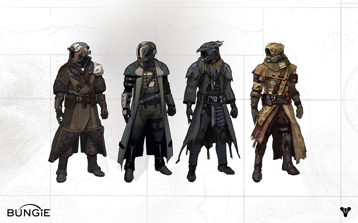 Character Design And Concept Art : Destiny character development and concept art