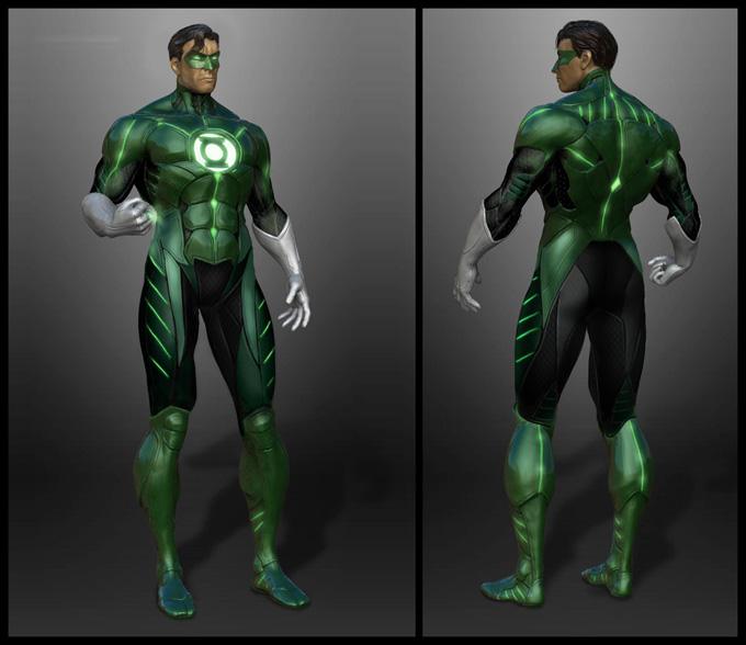 Injustice: Gods Among Us Concept Art Green Lantern