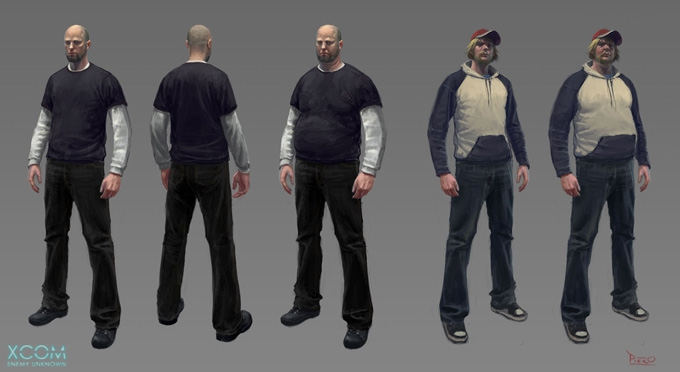 XCOM: Enemy Unknown Character Designs by Piero Macgowan