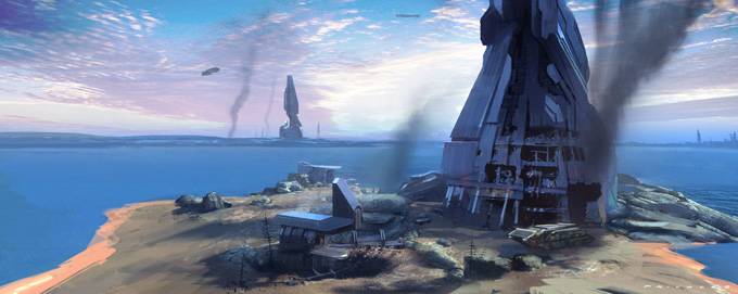 Halo 4 Concept Art by Thomas E. Pringle