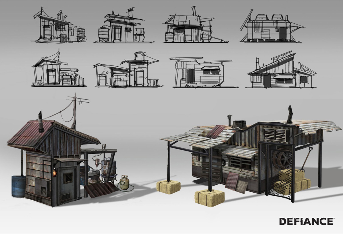 Defiance concept art by danny pak concept art world for Classic house design concepts