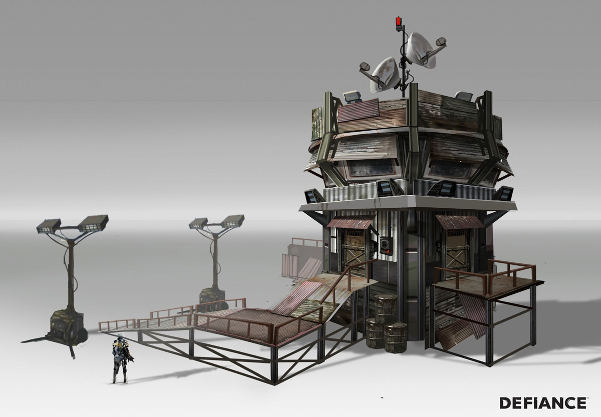 Defiance concept art by danny pak concept art world Concept buildings