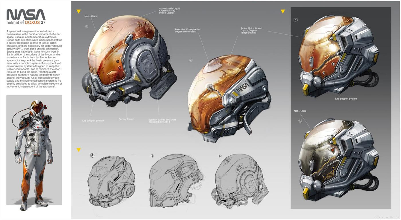 Futuristic Space Suit Concept Art Pics About Space