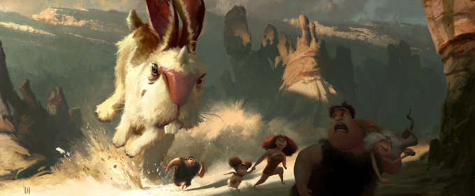 The Croods Visual Development Designs by Leighton Hickman