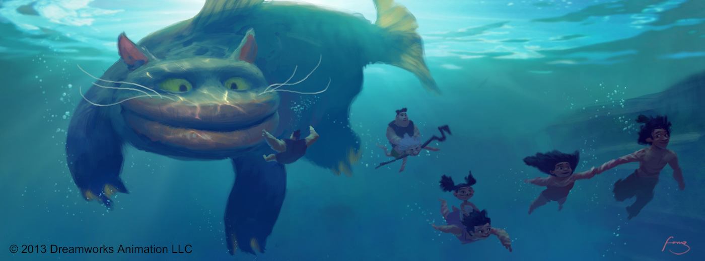 The croods visual development designs by arthur fong for Fish cat game