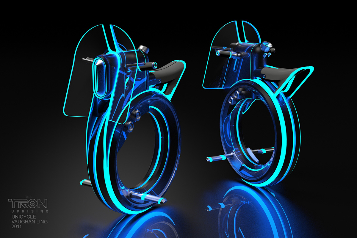 Tron Uprising Vehicle Designs And Background Paintings By